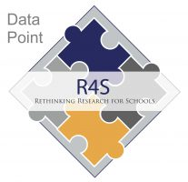"Research for Schools logo with Data Point to show that this document discusses one point on data gathered from the ""Survey of Evidence in Education."""